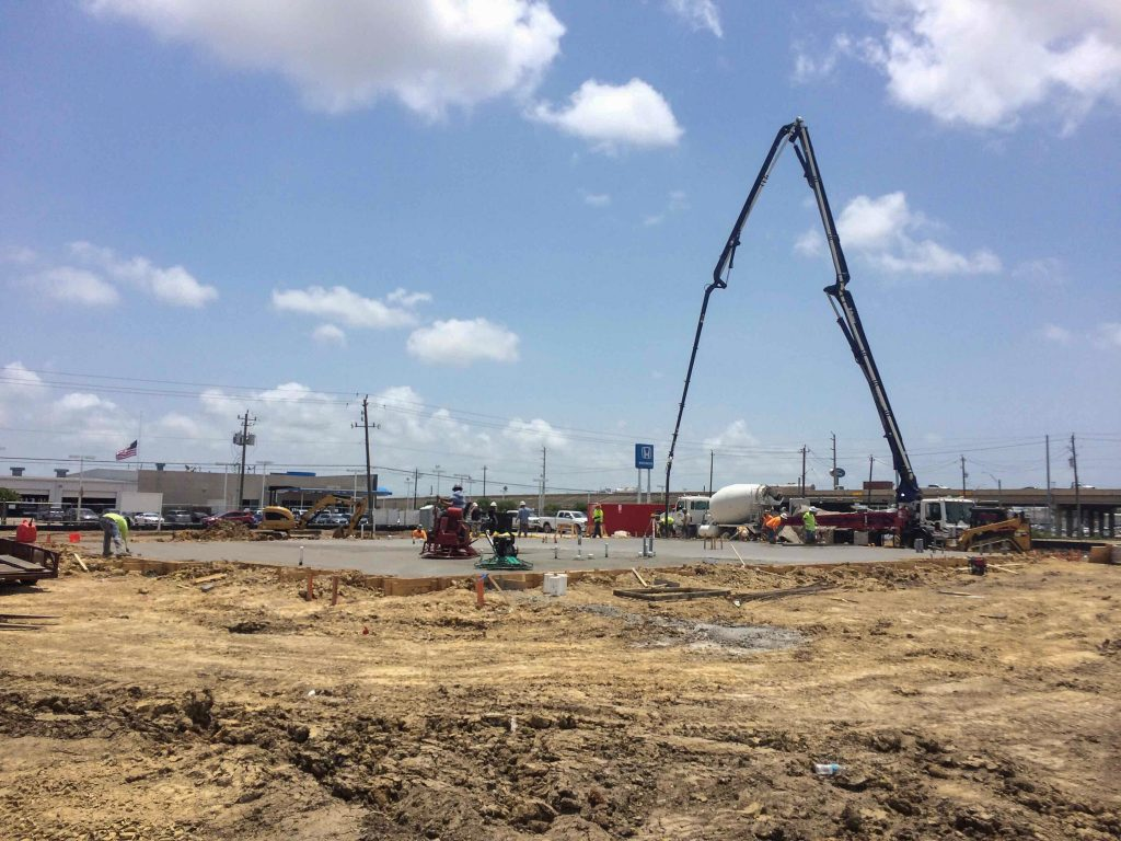 Foundation Being Poured at Shell FCU-Baytown